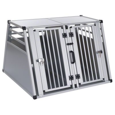 cage double aluline cage de transport pour chien zooplus. Black Bedroom Furniture Sets. Home Design Ideas