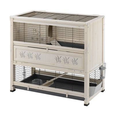 indoor home cage pour lapin et cochon d 39 inde zooplus. Black Bedroom Furniture Sets. Home Design Ideas