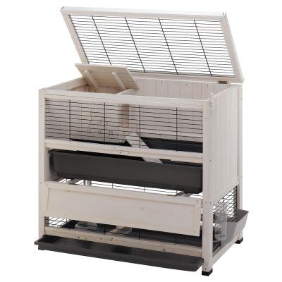 indoor home cage pour lapin et cochon d 39 inde zooplus. Black Bedroom Furniture Sets. Home Design Ideas