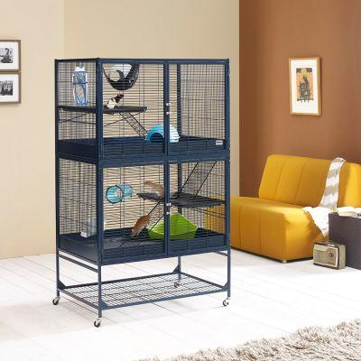 Savic suite royal 95 double cage pour rat et furet zooplus for Accessoire furet fait maison