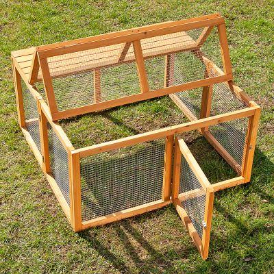 Outback springtime en bois enclos pour rongeur et lapin zooplus - Enclos a lapin ...