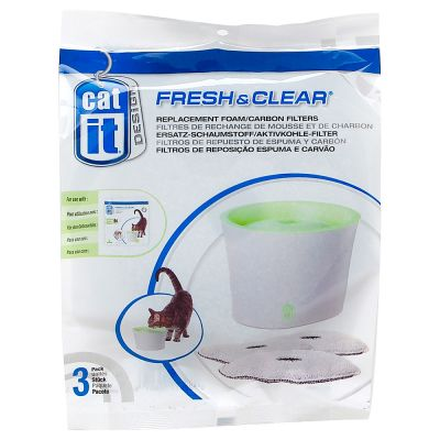 Fontaine à eau Catit Design Fresh & Clear 2 L pour chat et petit chien