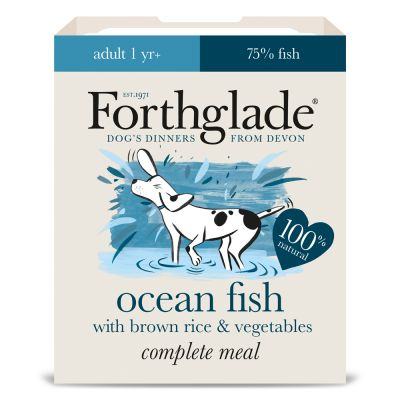 Forthglade complete meal adult ocean fish with brown rice for Fish and rice diet
