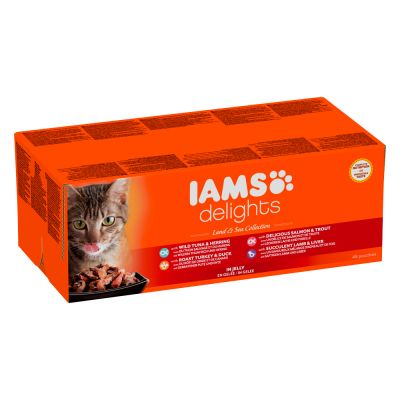 85g IAMS Delights Wet Cat Food - 80 + 16 Free!*