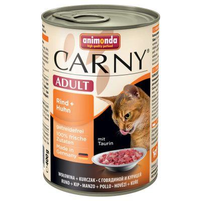Gemischtes Sparpaket Animonda Carny Adult 12 x 400 g