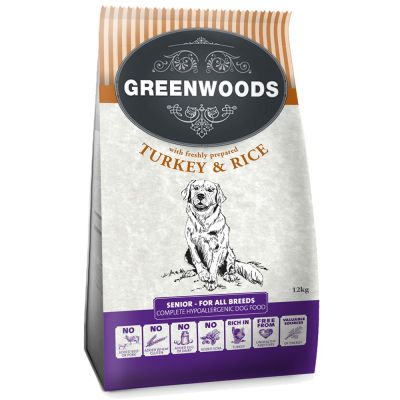 Greenwoods Naturally Hypoallergenic Senior/Light pavo arroz