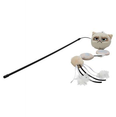 grumpy cat spielangel annoying plush cat wand g nstig kaufen bei zooplus. Black Bedroom Furniture Sets. Home Design Ideas