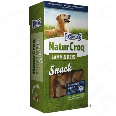 Happy Dog NaturCroq Snack Lamm & Reis