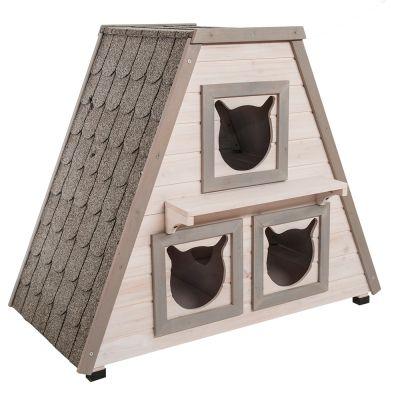 Katzenhaus madeira g nstig bei zooplus - Maison pour chat en bois ...