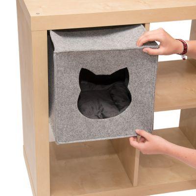 katzenh hle f r regale aus filz jetzt g nstig kaufen bei. Black Bedroom Furniture Sets. Home Design Ideas