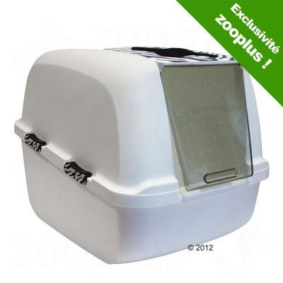 catit jumbo white tiger maison de toilette pour chat. Black Bedroom Furniture Sets. Home Design Ideas
