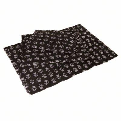 Manta Vetbed® Isobed SL Paw negra para perros