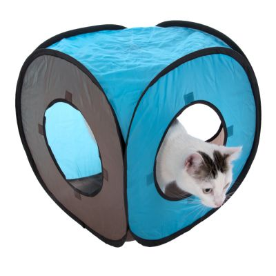 connect 2 en 1 tunnel de jeu pour chat zooplus. Black Bedroom Furniture Sets. Home Design Ideas
