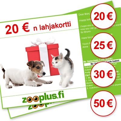 zooplus-lahjakortti